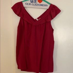 Loft Flowy Top size small Red